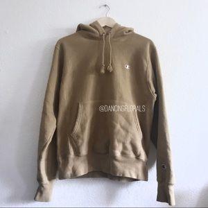 Champion x UO reverse weave beige hoodie